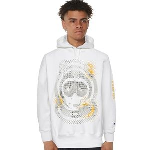 Champion Hoodie Spacestation White Gold Gray
